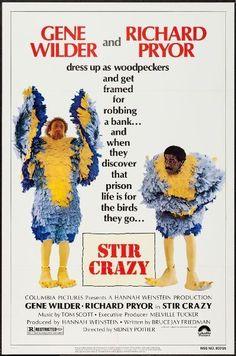 STIR CRAZY  - 1980 - original 27x41 movie poster - RICHARD PRYOR, GENE WILDER
