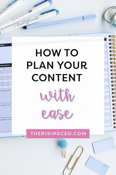 Ready to get organized in your business? Here's why The Content Planner is the best tool for bloggers, entrepreneurs and content creators! Content Marketing Tools, Marketing Plan, Marketing Strategies, Perfect Planner, Creating A Business, Blogging For Beginners, Blog Tips, Online Business, Business Organization