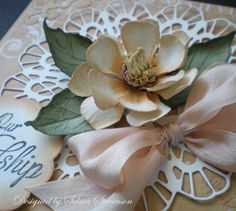 Selma's Stamping Corner and Floral Designs: Magnolia Tutorial and Die Cut Doily