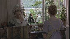 Sense and Sensibility   Colonel Brandon reads poetry to Marianne on the front lawn