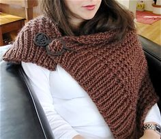 """This is a rectangle shawl that is 40"""" long and 16"""" wide, that you wrap around your shoulders."""