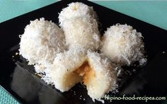 Palitaw with Yema Filling