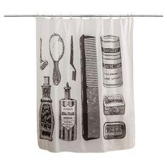Shower Curtain Splash Home Solid Neutral Black