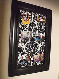 Great tutorial for Fabric Covered Magnet Board (love that she includes where to find the metal)