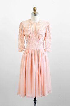 pretty as a pretty peach | vintage 1930s peachy pink ballerina dress. #vintage