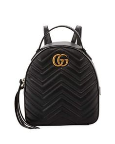 3eb9dbc642cc82 Get free shipping on Gucci GG Marmont Quilted Leather Backpack at Neiman  Marcus. Shop the