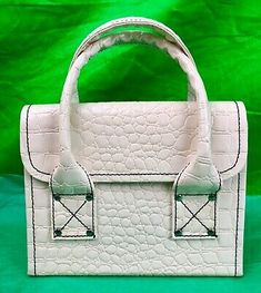 Find many great new & used options and get the best deals for Vintage White Faux Alligator File Document Storage Organizer Purse Handbag at the best online prices at eBay! Free shipping for many products!
