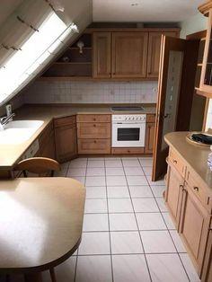 Küchenmöbel vor und nach Gewichtsverlust gestrichen