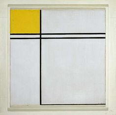 Composition with Double Line and Yellow, 1932 | Piet Mondrian