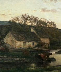 "Some fine art work on display at the Philadelphia Art Museum. ""Mill"" (cropped for pinning)1857 Charles-Francois Daubigny"