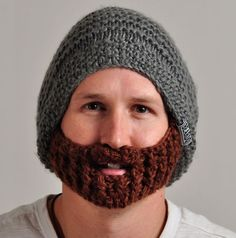 Cool Knitted Beard Hat with Detachable Beard 74458c1a2f0