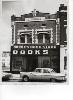 Original Burke's Book Store on N. Main street from 1875 to mid-1960's