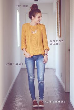 The Only 3 Outfit Ideas You Need for Thanksgiving Dinner Casual Outfit casual dinner outfits Fall Winter Outfits, Autumn Winter Fashion, Holiday Outfits, Cooler Style, Dinner Outfits, Party Outfits, Moda Casual, Outfit Trends, Mode Outfits