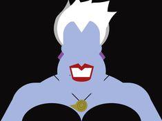 Disney & Co - Minimalista Ursula Disney Love, Disney Magic, Disney Art, Disney Pixar, Evil Disney, Kawaii Disney, Disney Stuff, Female Villains, Disney Villains