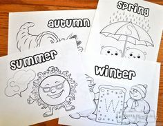 Free Coloring Pages to Teach the Seasons to Preschoolers