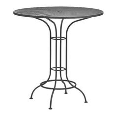 Woodard Commercial Grade Wrought Iron Bar Height Dining Table