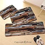 Driftwood Decor Non-Slip Kitchen Mat Runner Rug Kitchen Rug Set,Wooden Theme Driftwood and Knotty Planks Vintage Decorative Design Digital Image,for Entryway Kitchen and Bedroom,Brown - Driftwood 4 Us Driftwood Kitchen, Kitchens And Bedrooms, Kitchen Mat, Rug Making, Runes, Entryway Decor, Rug Runner, Digital Image, Bedroom Brown
