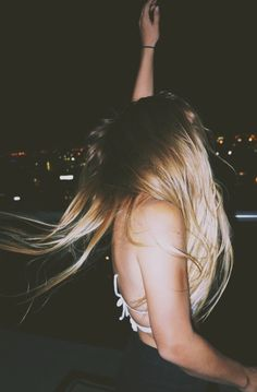 long hair in a convertible