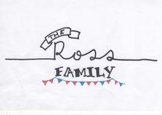 Family hand lettered banner