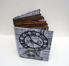 Handmade Photo Album, Memory Picture Book, Scrapbook Album, Custom Photo Journal, Mans Photo Book, Steampunk Style Book, Memory Album,