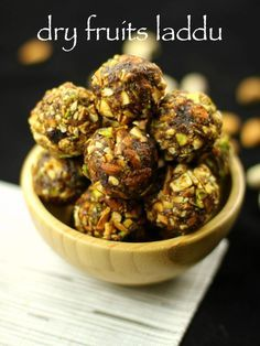 dry fruits laddu - substitute ghee with coconut oil for vegan version