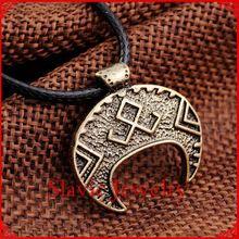 1 pc anciennes argent slave bijoux pendentif Charm obereg sekira lune pendentif slave Pagan za Collier bijoux colliers(China (Mainland))