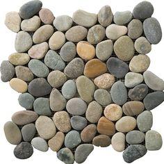 Emser Tile Natural Stone Random Sized Pebble Tile in Multicolor ...