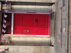 Red door in Bedfordshire - slightly salmon-y