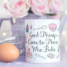 Hey, I found this really awesome Etsy listing at https://www.etsy.com/listing/193700288/baking-quote-mug-those-who-bake