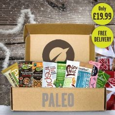 A fantastic Christmas present for perfect treat for cavemen and cavewomen everywhere!  Dive into a treasure trove of paleo goodness, packed with a bounty of paleo friendly snacks and treats.  - A handpicked variety of healthy snacks, treats, teas and superfoods delivered straight to your door. - Packed with goodness, only the finest healthy treats from around the world make the cut! - Free 1st Class delivery on all Vivo Lifestyle boxes. - A new box of treats every month!