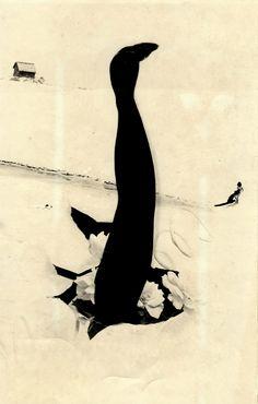 Kansuke Yamamoto,  Endress Biginning, 1963.  This was published in the Asahi newspaper on 7 July 1963.  ©Toshio Yamamoto.