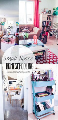 how to make small space homeschooling work for YOU! 6 tips to manage small space homeschooling in your home! If you feel like you are drowning in the overflow of books, you NEED this post! Home Learning, Learning Spaces, Learning Resources, Early Learning, Small Space Living, Small Spaces, Small Apartments, Planning School, E Mc2