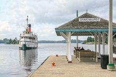Segwun, Muskoka Wharf, Muskoka Bay, Muskoka Lake, heritage, steamship; photo © r.brazier Art Impressions, Lake Superior, Ontario, Photo Art, Gazebo, Canada, Outdoor Structures, Explore, Art Prints
