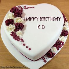 Create Rose Birthday Cake Image With Name Editor For Your Friends Family Or Lovers