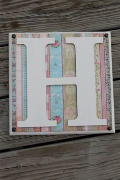 Shabby Cottage Chic Monogram Letters Wood Wall by ReadinginRags, $24.98