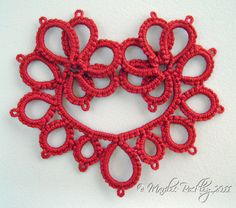 This listing is for the PDF pattern only, not the actual tatted item or a printed pattern. You need to know the basics of shuttle tatting to be able to follow this pattern, as it does not include any basic tatting instruction. This is an intermediate level, two shuttle pattern which I have designed and prepared in PDF format. No beads are used in this pattern as written. The 2 page file includes: *Written instructions in English, *In-progress photographs. No diagram in this pattern. The…