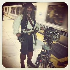 Pirate on BART...Argh Matey!!