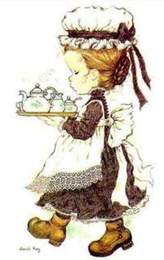 Sarah Kay album Decje novine Jugoslavija (n. Sarah Key, Holly Hobbie, Mary May, Susan Wheeler, Illustration Art, Illustrations, Dibujos Cute, Tea Art, Cute Images