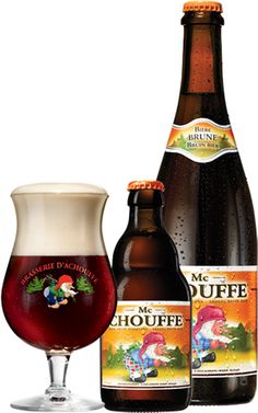 Mc CHOUFFE is an unfiltered brown beer which is refermented both in the bottle and in barrels. Its fruity bouquet conceals a hint of bitterness. BELGIUM BEER