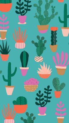 Nopal Go Wallpaper, Screen Wallpaper, Mobile Wallpaper, Pattern Wallpaper, Cute Backgrounds, Cute Wallpapers, Wallpaper Backgrounds, Cactus Art, Art Design