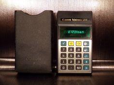 Calculatrice-calculator-LED-CANON-LD-81-vintage-70-039-s