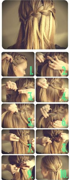 New hair styles updo casual popular haircuts ideas Braided Hairstyles Tutorials, Cute Hairstyles, Hairstyle Ideas, Braid Hairstyles, Wedding Hairstyles, Latest Hairstyles, Beautiful Hairstyles, Party Hairstyles, French Hairstyles