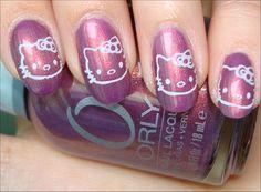 Konad Nail Art: Hello Kitty Nails