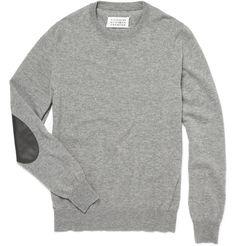 elbow patch wool sweater ++ maison martin margiela
