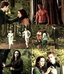 Bella and Edward they are talking and then Edward broke up with her cause she was not the right girl for him
