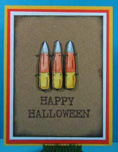 Candy Corn Fence stamp, Halloween