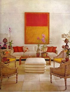 Rothko interior '70s red orange palette