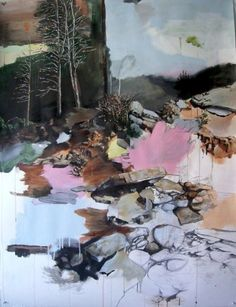 """Marcus Payzant, Coping With Our Rural Heritage, 2008, acrylic and graphite on paper, 50"""" x 38"""""""