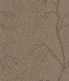Willow  - A delicate all-over willow tree design with a distressed paint effect.   Shown in the warm chocolate brown with bronze gold leaves.