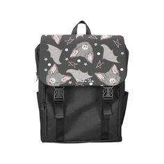 BATBAT LOVE Backpack - Gothic Kawaii Sweet Bat Pink Black Dark Occultism Goth Magic Witchcraft Witch Princess stars Harajuku Pastel